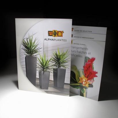 Dossier et brochures des différents services Alphaplantes
