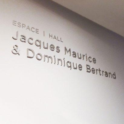 Janou Fleury graphiste conseil | MBAM Signalétique des lieux secondaires Jacques Maurice & Dominique Bertrand