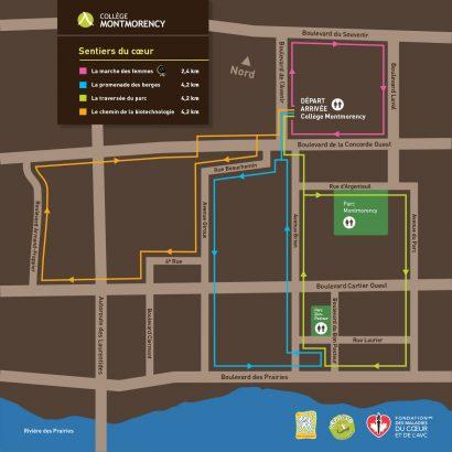 Plan du Sentier du cœur pour le Collège Montmorency Anick Blais Design