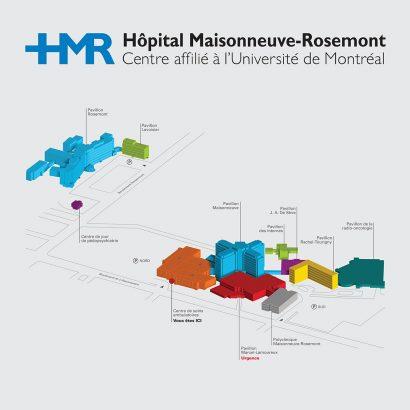 Plan axonométrie HMR du répertoire principal Anick Blais Design