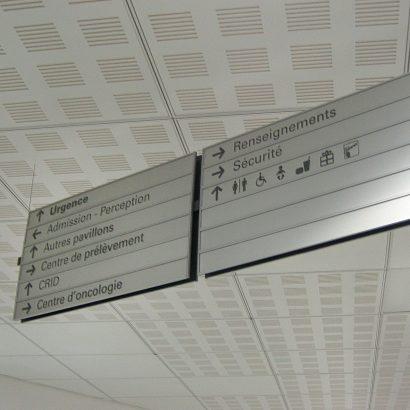Panneau double directionnel HMR Anick Blais Design